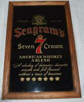 SEAGRAM'S SEVEN 7 CROWN WHISKEY MIRROR SIGN