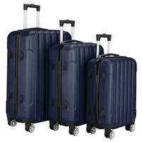 3 Piece Travel Luggage Set Lightweight Case Spinner Hardshell Business Suitcase