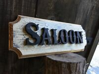 Saloon Wood Sign Whiskey Bar Cigar Bar Tavern Beer Old West Antique Look