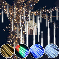 288LED Meteor Shower Lights 30/50CM Snowfall Rain Icicle Drop Xmas Party Outdoor