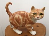 Rare Winstanley Ginger Tabby Cat Early 1990's Walking Cat Size 5