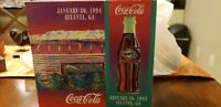 1994 XXVIII Super Bowl Coca Cola Commerative Package with Pin and Letter