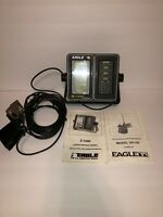 Vintage Eagle Fish Finder Locator LCG Graph Recorder Z-7200 w/ transducer XD-2A