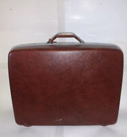 vintag Samsonite luggage suitcase hard-shell hard side burgundy  SEND BEST OFFER