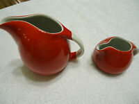 Red Hall Pottery Syrup & Cream pitcher