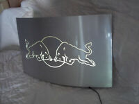 Red Bull fighting bar light Metal Sign made in Austria Rare 12x20.5 trevale 2900