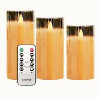 Evenice Flameless Candles LED Candles Flickering with Glass Shell Battery Operat