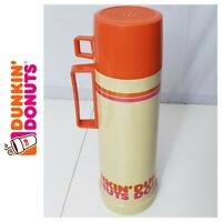 🎄 Vintage Dunkin' Donuts Thermos 10 Oz. Qt with Handle and Cup lid - Clean