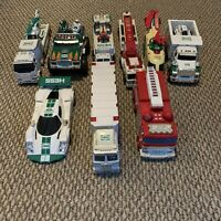Hess Toy Truck Lot Of 9 Helicopter Car Fire Engine Airplane