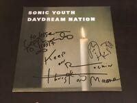 Sonic Youth 3 4 Hand SignedInscribed Daydream Nation Vinyl CoverLPProofCOA