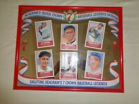 Seagrams Seven 7 Crown Baseball Legends Mirror Bar CY Young Babe Ruth Lou Gehrig