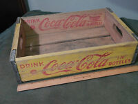 '50s Coca-Cola *Yellow/Red* Wood_Metal Edged_CRATE