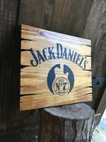 Jack Daniels Old Number 7 Wood Sign Whiskey Bar Antique Look Barrel Distillery