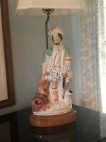 """19TH CENTURY STAFFORDSHIRE FIGURE OF  """"The Lion Slayer"""" MOUNTED AS A LAMP"""