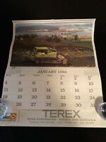 Vtg IBH Group Terex Corp Tractor & Construction Equipment 1981 Full Calendar GM