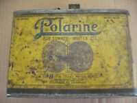 Vintage  Polarine One Half Gallon Oil Can~ Sept.13 1898 Marked