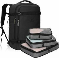 Hynes Eagle 44L Flight Approved Carry on Backpack Travel Luggage wPacking Cubes