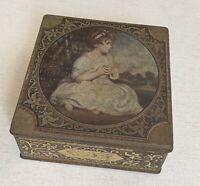 Vintage Thorne's Toffee Metal Tin Box Age of Innocence Sir Joshua Reynolds Hinge