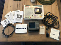 Lowrance LMS-522C iGPS Sonar GPS Internal Antenna Fish Finder In Box w/ Manuals