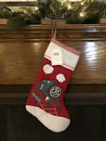 *POTTERY BARN* KIDS THOMAS FRIENDS TRAIN QUILTED CHRISTMAS STOCKING NEW NO NAME