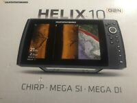 Humminbird HELIX 10 CHIRP MEGA SI & DI G2N Brand New n Box Never Opened