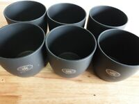 Sk Keramik German Lightweight Charcoal Clay Planter Pots 6pk