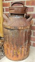 Vintage Gulf Oil Can 5 Gal Fluted Gas Station Garage c1920's Ellisco Solder Seam