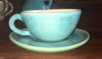 Rare Pisgah Forest Cup/Saucer Hand Crafted NC Pottery 6.25