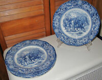 LIBERTY BLUE 5 Salad/Luncheon PLATES -Valley Forge - Excellent