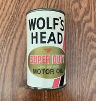 Vintage Wolf#x27;s Head Motor Oil Can Bank