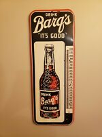 Vintage Barq's Root Beer Working Thermometer, Soda, Sign, Clean!