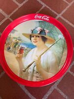 "Vintage 1987 Coca Cola ""Girls At The Seashore"" Round 12"" Tray"