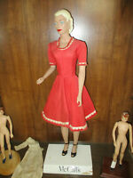 Vintage Countertop Store Display Mannequin 29