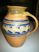 INDIANA POTTER / Solsberry pottery Large Water Pitcher Signed 1980