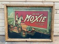 Antique Style Rustic Moxie Soda Wood Sign 12x16