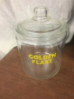 Vintage Original Golden Flake Peanut Jar w/ Lid, Tom's Store Lance Gordon's