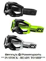 Castle X Stage Goggle OTG Over The Glasses Fit Single Pane ATV Motocross Offroad