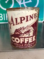 1lb Nestle Alpine Brand Tall Coffee Tin Can 1 Pound 1930s San Francisco, CA