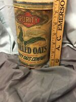 PURITY BRAND ROLLED OATS CARDBOARD CONTAINER BOX, KEOKUK, DAVENPORT, IOWA