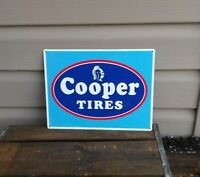 COOPER TIRES Metal Sign Advertising Repair Shop Logo Mechanic Garage 9x12 50065