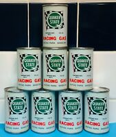 RARE Lot Of 8 Vintage NOS Quaker State Racing Gas Oil Can -additive Advertising