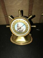 Vintage Barq's Root Beer ship wheel Advertising Thermometer