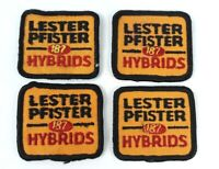 Vtg 4 Cloth Patches Lester Pfister 187 Hybrids Seed Corn 2-3/8 x 2