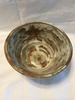 Vintage Studio Pottery Bowl 1966 Signed Hand Thrown Earthenware Art Mid Century