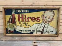 Antique Style Rustic Hires Root Beer Wood Sign 12x24