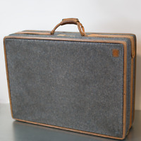 "Vintage Hartmann Mountain Blue Luggage Suitcases Tweed Leather 26 12"" Locks"