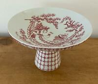 Bjorn Wiinblad Nymolle Denmark Red Footed Compote Cake Stand Praline 3003-408