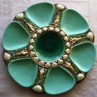 Antique Minton Majolica Turquoise Shell and Seaweed Oyster Plate