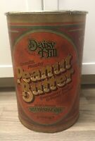RARE Ballonoff 1978 Daisy Hill Peanut Butter Can Trash Waste Can Tin Very Tall