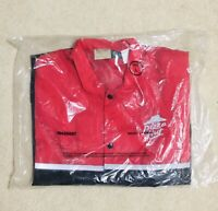 Vintage 90s PIZZA HUT Size L Snap Windbreaker Uniform Jacket Delivery Driver NEW